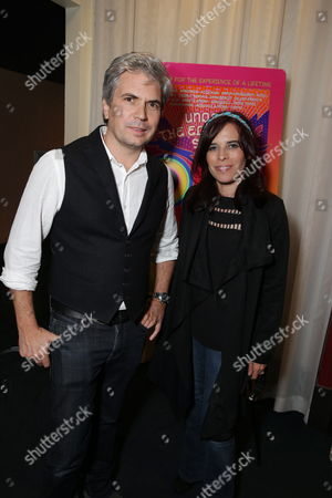 """Director Dan Cutforth and Director Jane Lipsitz seen at Focus Features """"Under The Electric Sky"""" Screening at Arclight Hollywood, in Hollywood, CA"""