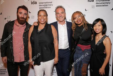 Barney Broomfield, Pamela Brooks, Nick Broomfield, Margaret Prescott and Aaron Lee attend the International Documentary Associationâ?™s 2014 IDA Documentary Awards at Paramount Studios on in Los Angeles