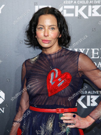 Lisa Maria Falcone attends Keep a Child Alive's 2014 Black Ball at the Hammerstein Ballroom, in New York