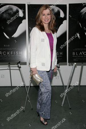 "Broadcast journalist Jodi Applegate attends a screening of ""Blackfish"" on in New York"
