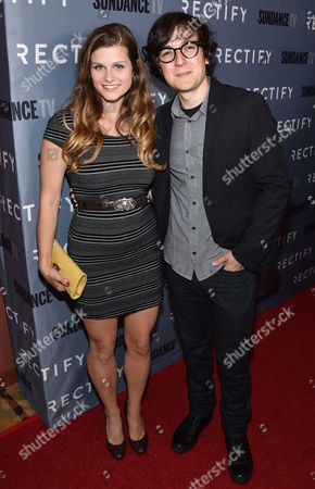 """Stock Photo of Meghan Falcone, left, and Josh Brener attend the premiere of SundanceTV's """"Rectify"""" season 2, in Los Angeles"""
