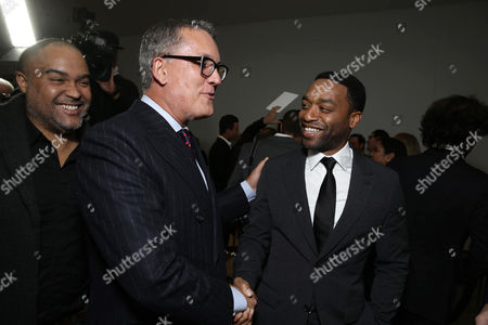 Stuart Ford, Founder & Chief Executive Officer of IM Global, and Chiwetel Ejiofor seen at STX Entertainment's 'Secret In Their Eyes' Premiere at Hammer Museum, in Los Angeles, CA