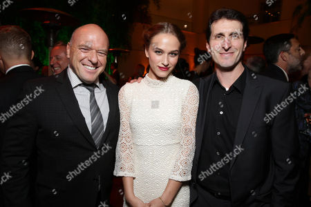 Dean Norris, Zoe Graham and Writer/Director Billy Ray seen at STX Entertainment's 'Secret In Their Eyes' Premiere at Hammer Museum, in Los Angeles, CA