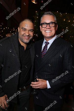 Producer Matt Jackson and Stuart Ford, Founder & Chief Executive Officer of IM Global, seen at STX Entertainment's 'Secret In Their Eyes' Premiere at Hammer Museum, in Los Angeles, CA