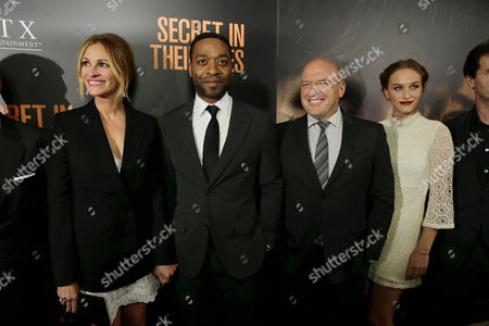 Julia Roberts, Chiwetel Ejiofor, Dean Norris and Zoe Graham seen at STX Entertainment's 'Secret In Their Eyes' Premiere at Hammer Museum, in Los Angeles, CA