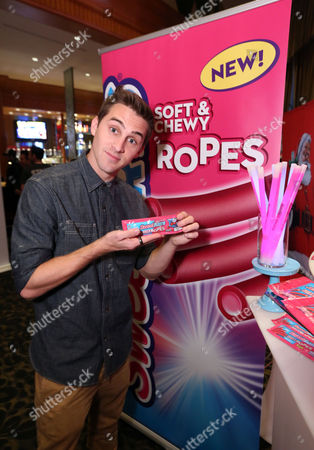 Cody Johns is one of the first to taste the new SweeTARTS Ropes, with electrifying bursts of sweet and tart flavors, at KIIS FM's Jingle Ball on in Los Angeles