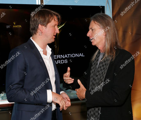 Tom Hooper and Scott Hicks attend the Australian Academy Of Cinema And Television Arts' 2nd AACTA International Awards at Soho House on in West Hollywood, California