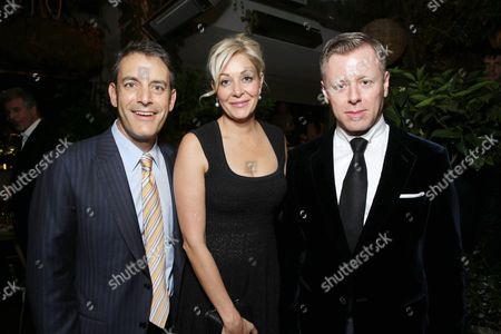 From left, producer Doug Mankoff, producer Nadja Swarovski and composer Abel Korzeniowski attend the premiere of Swarovski Entertainment's first film ROMEO & JULIET, distributed by Relativity Media and in theaters nationwide October 11th on in Hollywood, Calif