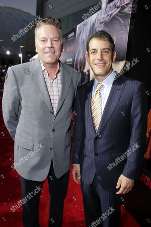 Producers Andrew Spaulding, left, and Doug Mankoff, attend the premiere of Swarovski Entertainment's first film ROMEO & JULIET, distributed by Relativity Media and in theaters nationwide October 11th on in Hollywood, Calif