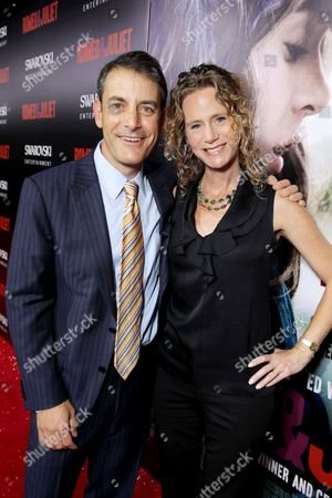 Producer Doug Mankoff, left, and Marcia Mankoff attend the premiere of Swarovski Entertainment's first film ROMEO & JULIET, distributed by Relativity Media and in theaters nationwide October 11th on in Hollywood, Calif
