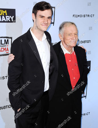 Stock Photo of Marston Hefner and Hugh Hefner