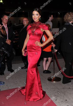 "Miss Universe Canada Sahar Biniaz arrives at the premiere for ""Rhino Season"" during the Toronto International Film Festival on in Toronto"