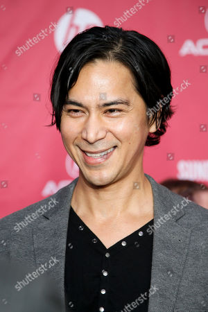 """Actor Kalani Queypo poses at the premiere of """"Slow West"""" during the 2015 Sundance Film Festival, in Park City, Utah"""