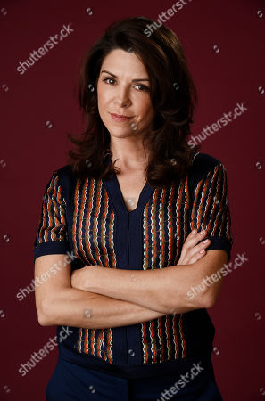"""Amy Pietz, a cast member in The CW series """"No Tomorrow,"""" poses for a portrait during the 2016 Television Critics Association Summer Press Tour at the Beverly Hilton, in Beverly Hills, Calif"""
