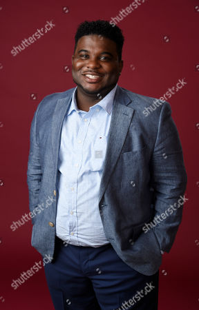 """Jonathan Langdon, a cast member in The CW series """"No Tomorrow,"""" poses for a portrait during the 2016 Television Critics Association Summer Press Tour at the Beverly Hilton, in Beverly Hills, Calif"""