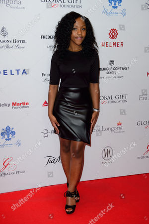 Asanda Jezile arrives for the Global Gift Gala at a central London venue, London