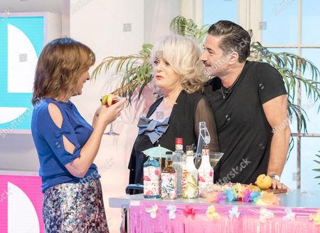 Lorraine Kelly, Sherrie Hewson and Jake Canuso