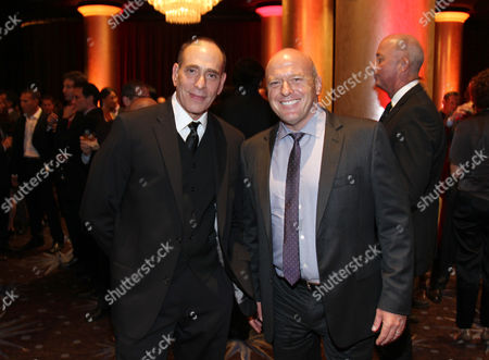 Nestor Serrano, left, and Dean Norris attend the CoachArt Gala of Champions attend The Beverly Hilton, in Beverly Hills, Calif