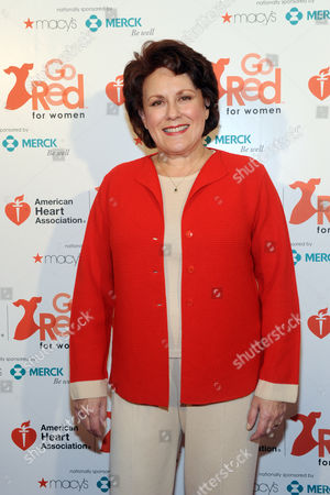 Stock Photo of Tony Award-winning actress and singer Judy Kaye joins the American Heart Association's Go Red For Women movement to celebrate the 10th National Wear Red Day, at Macy's Herald Square in New York.Â