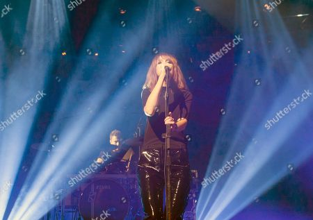 Stock Image of Laura Welsh performs on stage during the iTunes Festival at the Roundhouse, in London