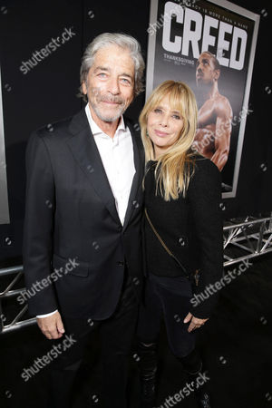 Todd Morgan and Rosanna Arquette seen at Los Angeles World Premiere of New Line Cinema's and Metro-Goldwyn-Mayer Pictures' 'Creed' at Regency Village Theater, in Westwood, CA