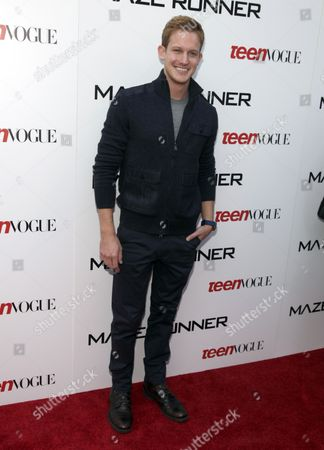 "Chris Sheffield attends a screening of ""The Maze Runner"" hosted by Twentieth Century Fox and Teen Vogue on in New York"