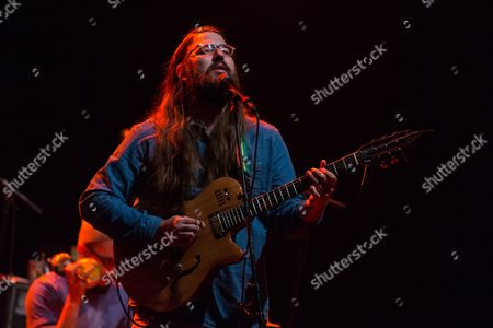 Vocalist / guitarist Matthew E. White performs on stage as the opening act for Okkervil River at the Wiltern, on in Los Angeles, Calif
