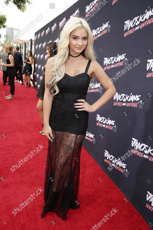Carrington Durham attends the Los Angeles premiere of Awesomeness Film's JANOSKIANS: UNTOLD AND UNTRUE at Bruin Theatre, in Los Angeles, CA