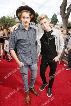 Steffan Argus and Aidan Alexander attend the Los Angeles premiere of Awesomeness Film's JANOSKIANS: UNTOLD AND UNTRUE at Bruin Theatre, in Los Angeles, CA