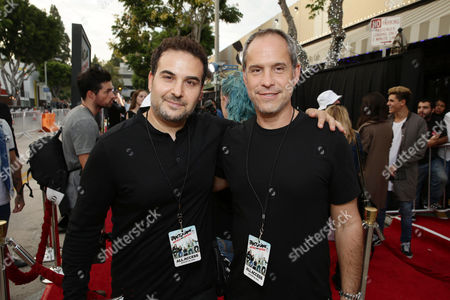 The Janoskians Manager Jeremy Skaller and Awesomeness TV CEO Brian Robbins attend the Los Angeles premiere of Awesomeness Film's JANOSKIANS: UNTOLD AND UNTRUE at Bruin Theatre, in Los Angeles, CA