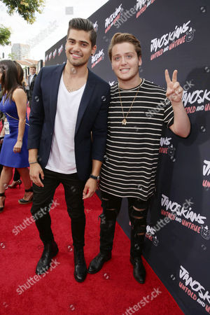 Rajiv Dhall and Andrew Bazzi attend the Los Angeles premiere of Awesomeness Film's JANOSKIANS: UNTOLD AND UNTRUE at Bruin Theatre, in Los Angeles, CA
