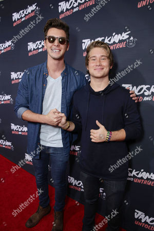 Tyler Case and Michael Taber attend the Los Angeles premiere of Awesomeness Film's JANOSKIANS: UNTOLD AND UNTRUE at Bruin Theatre, in Los Angeles, CA