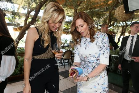 Tara Swennen, left, and Dana Gers attend The Hollywood Reporter & Jimmy Choo Celebration of the Most Powerful Stylists in Hollywood,, in West Hollywood, Calif