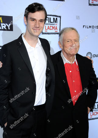 Marston Hefner and Hugh Hefner