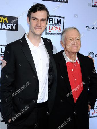 Stock Picture of Marston Hefner and Hugh Hefner