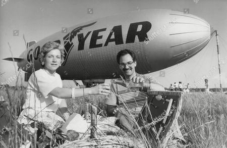 Lynne And James Burns Who Won A Competition To Travel In The Goodyear Airship. Box 736 908031717 A.jpg.