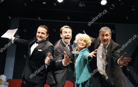 'Stop Messing About' - Charles Armstrong (Douglas Smith) Robin Sebastian (Kenneth Williams) Emma Atkins (Joan Sims) and Nigel Harrison (Hugh Paddick)