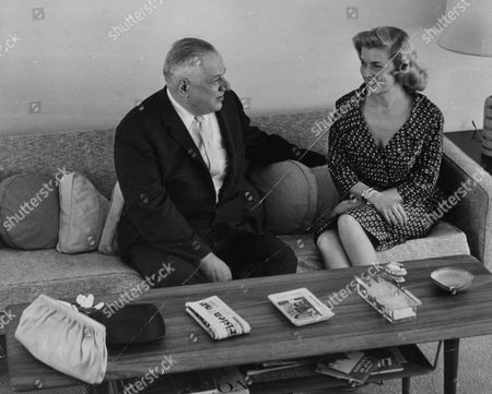Actress Louise Collins And Her Father Andrew Cordier Executive Assistant To The U.n. Secretary General. Box 738 814031710 A.jpg.