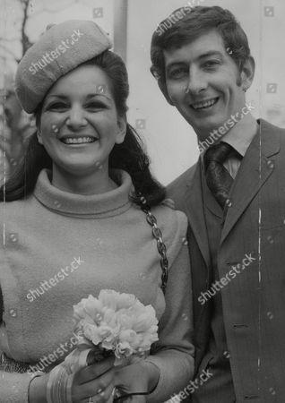 Radio D.j. Dave Cash And Bride Dawn Lane After Their Wedding At Marylebone Register Office. Box 741 621031742 A.jpg.