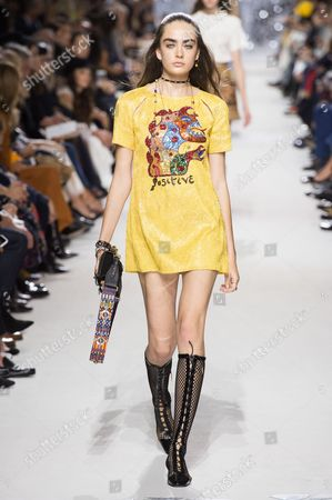 Editorial picture of Christian Dior show, Runway, Spring Summer 2018, Paris Fashion Week, France - 26 Sep 2017