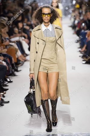 Stock Photo of Shelby Hayes on the catwalk
