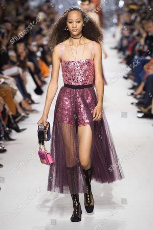 Selena Forrest on the catwalk