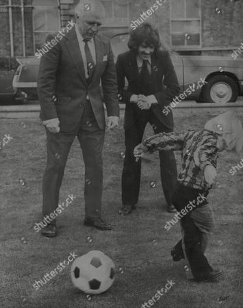 Editorial image of Raich Carter Junior 4 With Father Horatio 'raich' Carter The Former Sunderland Fc Captain Who Won The Fa Cup With The Team In 1937 And Bobby Kerr The Present Sunderland Team Captain. Box 742 52803176 A.jpg.