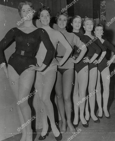 Six Of The Dancers Chosen To Appear On Sunday Night At The London Palladiuim. L-r: Gay Owen Joyce Chapman Sonia Bendi Angela Bracewell Wendy Garton And Valerie Hayes. Box 743 531031734 A.jpg.