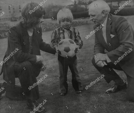 Stock Picture of Raich Carter Junior 4 With Father Horatio 'raich' Carter The Former Sunderland Fc Captain Who Won The Fa Cup With The Team In 1937 And Bobby Kerr The Present Sunderland Team Captain. Box 742 828031733 A.jpg.