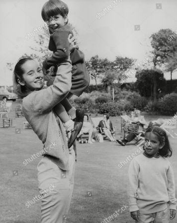 Children Of Actor Charlie Chaplin At Eastbourne. Victoria Chaplin 15 Holding Christopher 4 As Sister Annette 6 Looks On. Box 743 331031724 A.jpg.