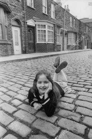 Stock Picture of Holly Chamarette 8-year-old Actress To Play The Part Of Tracy Barlow In Television Series Coronation Street. Box 745 407041731 A.jpg.