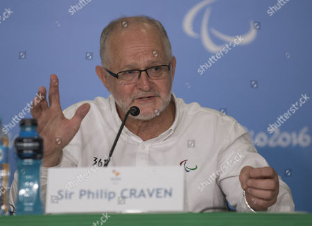 Sir Philip Craven Mbe President Of The International Paralympic Committee Speaks At A Press Conference In Rio In Advance Of The Opening Ceremony See Martha Kelner/david Williams Story Rio Paralympics  7916