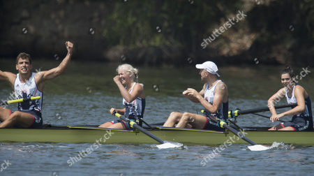 Paralympic Gold Medal Rowers Grace Clough Daniel Brown Pamela Relph James Fox And Cox James Oliver Win The Lta Mixed Coxed Four  (rio Paralympics) 11916
