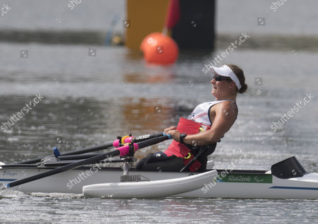 Stock Photo of Rachel Morris  (rio Paralympics) 11916 Former Handcyclist Rachel Morris Powers To A Gold In The Rowing  See Story